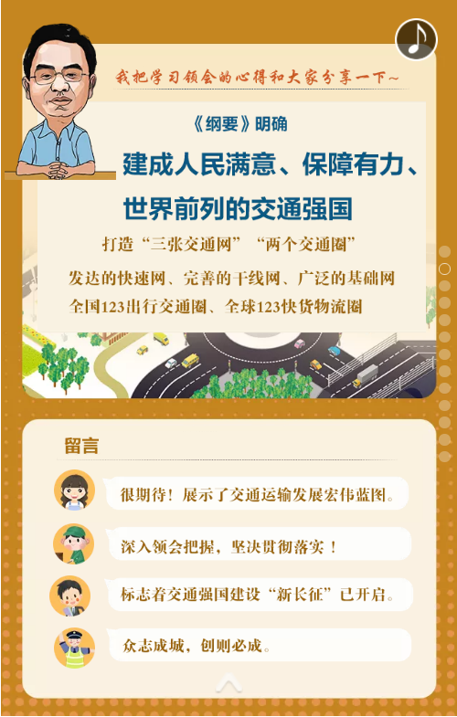 【图解】学习领会《交通强国建设纲要》